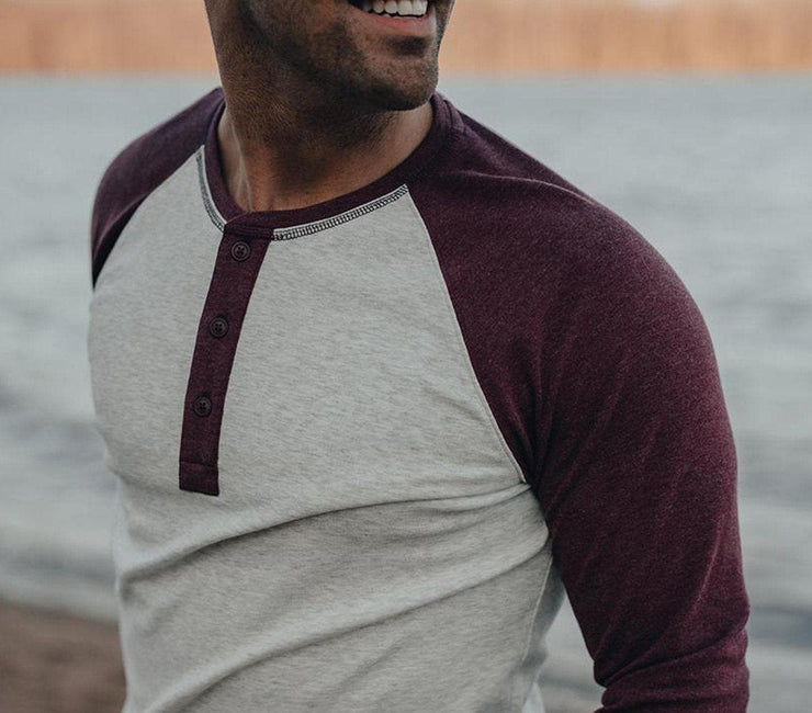 Retro Puremeso Henley Longsleeve Tops The Normal Brand