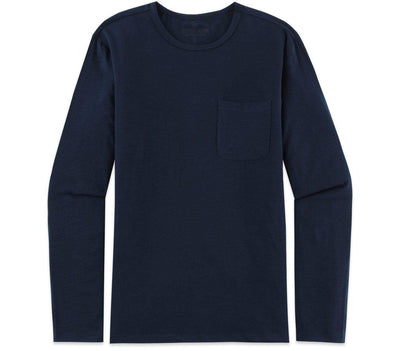 Long Sleeve Pocket Tee - Waterloo Blue Tops Bouldin Waterloo Blue S