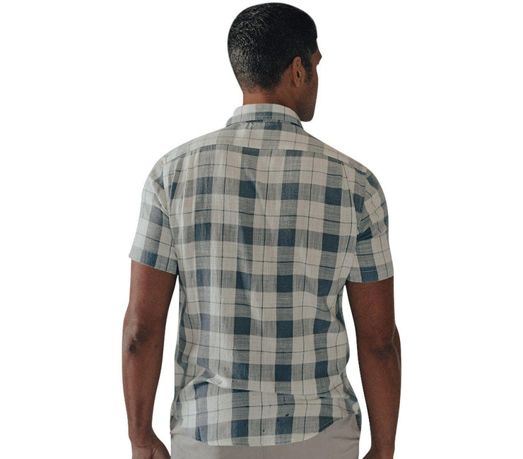 Skipper Short Sleeve Button Down - Mineral Blue Tops The Normal Brand