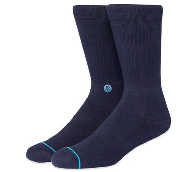 Icon Classic Crew Socks - Dark Navy Accessories Stance Dark Navy 9-13