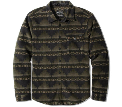 Furnace Fleece Flannel Tops Billabong Dark Military M