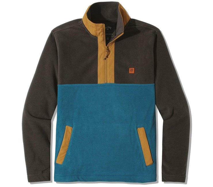 Boundary Mock Lite Polar Fleece - Raven Outerwear Billabong Raven S