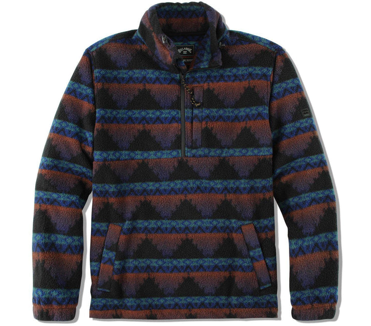 Boundary Mock Neck Polar Fleece - Malibu Outerwear Billabong Malibu S