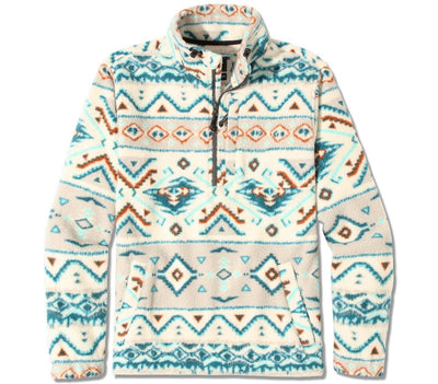 Boundary Mock Neck Polar Fleece - Stone Outerwear Billabong Stone S