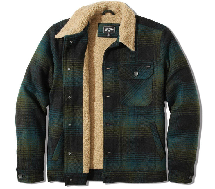 Barlow Sherpa Jacket - Bay Blue Outerwear Billabong