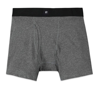 Smith Solid Cotton Boxer Brief - Charcoal Accessories Richer Poorer Charcoal M