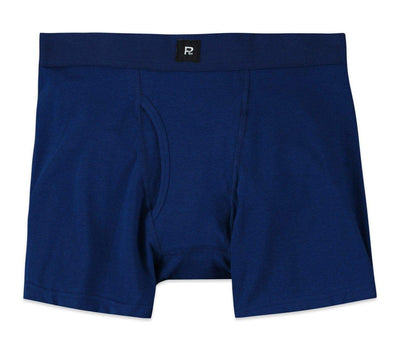 Smith Solid Cotton Boxer Brief - Navy Accessories Richer Poorer Navy M