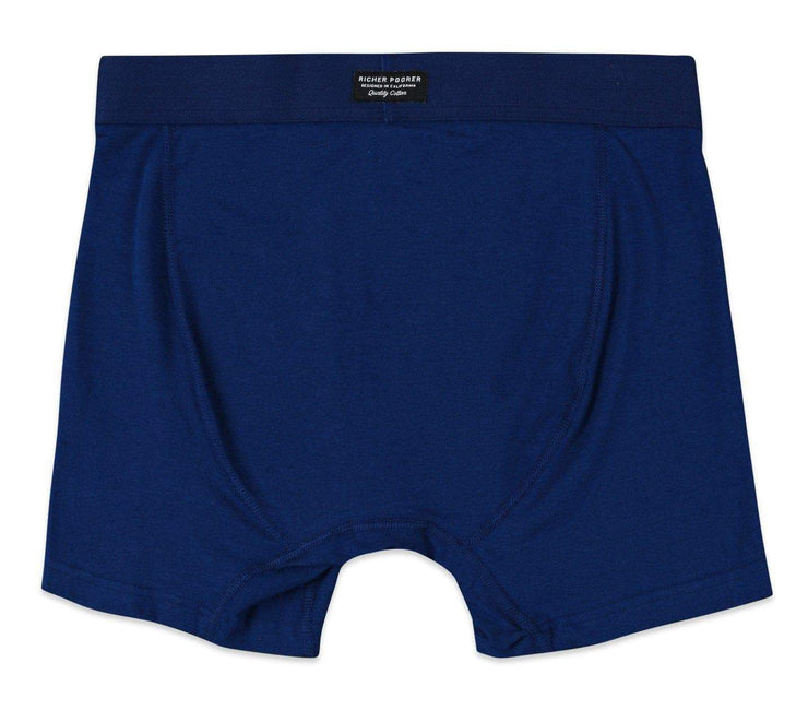 Smith Solid Cotton Boxer Brief - Navy Accessories Richer Poorer