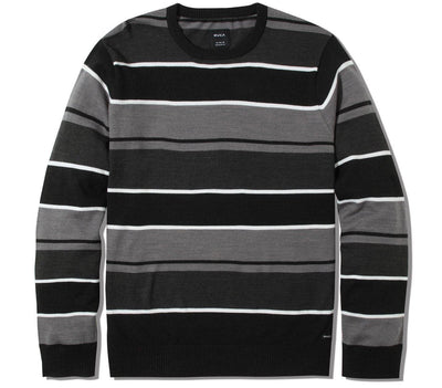 Alex Stripe Crew Sweater - RVCA Black Tops RVCA RVCA Black S