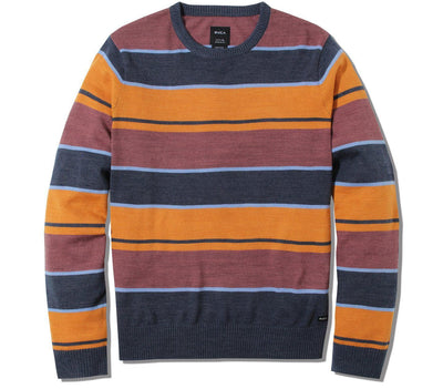 Alex Stripe Crew Sweater - Moody Blue Tops RVCA Moody Blue S