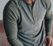 Retro Puremeso Long Sleeve Henley Tops The Normal Brand
