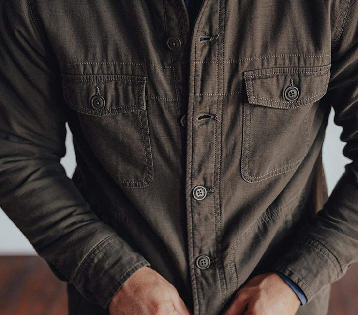 Flannel Lined Shirt Jacket - Military CPO Outerwear The Normal Brand