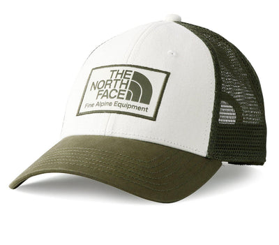 Mudder Trucker Hat - Vintage White/Burnt Green Olive Headwear The North Face Vintage White/Burnt Green Olive