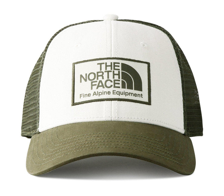 Mudder Trucker Hat - Vintage White/Burnt Green Olive Headwear The North Face