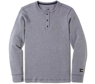Terry Long Sleeve Henley - Navy Tops The North Face Navy S