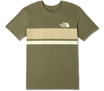 Horizon Lines Tee - Burnt Olive Tops The North Face Burnt Olive S
