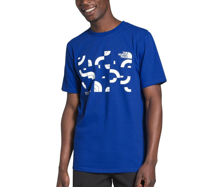 Dome Jumble Heavyweight Tee - Blue Tops The North Face