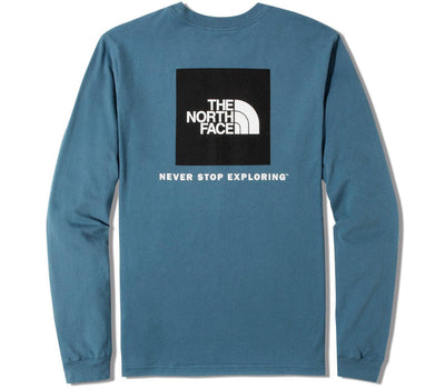 Box Long Sleeve Tee - Mallard Blue Tops The North Face Mallard Blue S