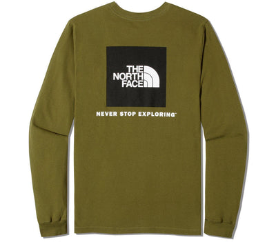 Box Long Sleeve Tee - Fir Green Tops The North Face Fir Green S