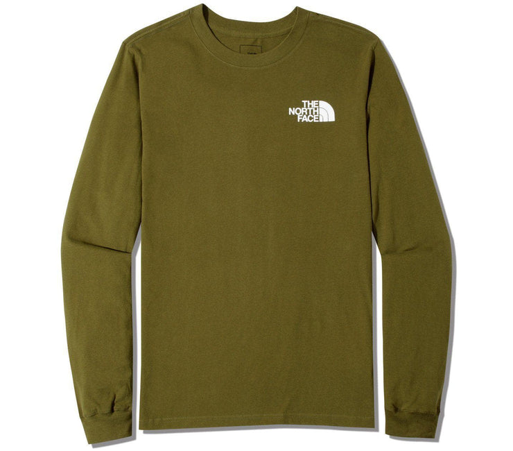 Box Long Sleeve Tee - Fir Green Tops The North Face