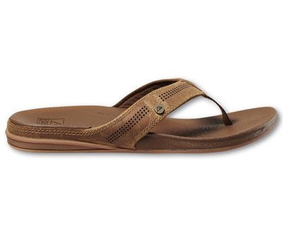 Cushion Lux Leather Sandals - Toffee Footwear REEF Toffee 9