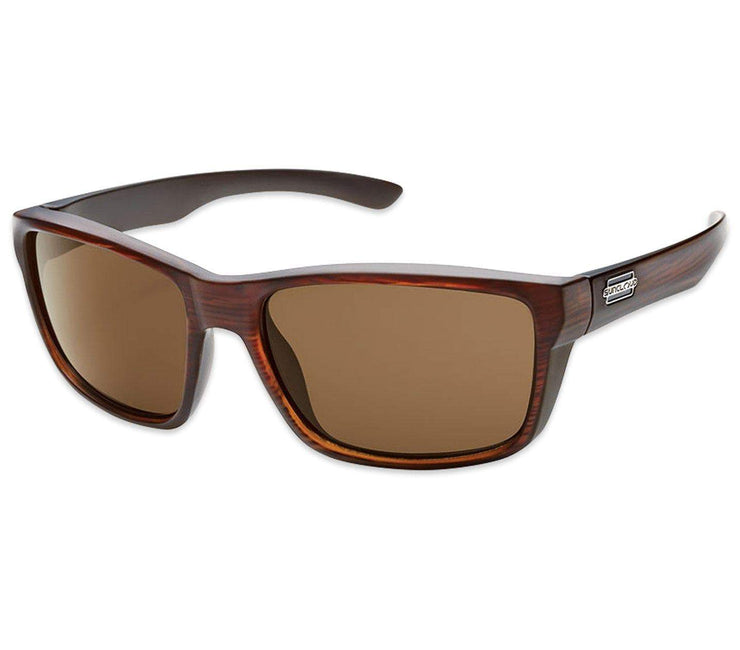 Mayor Sunglasses - Brown, Polarized Headwear Suncloud Burnished Brown/Polar Brown - Medium Fit