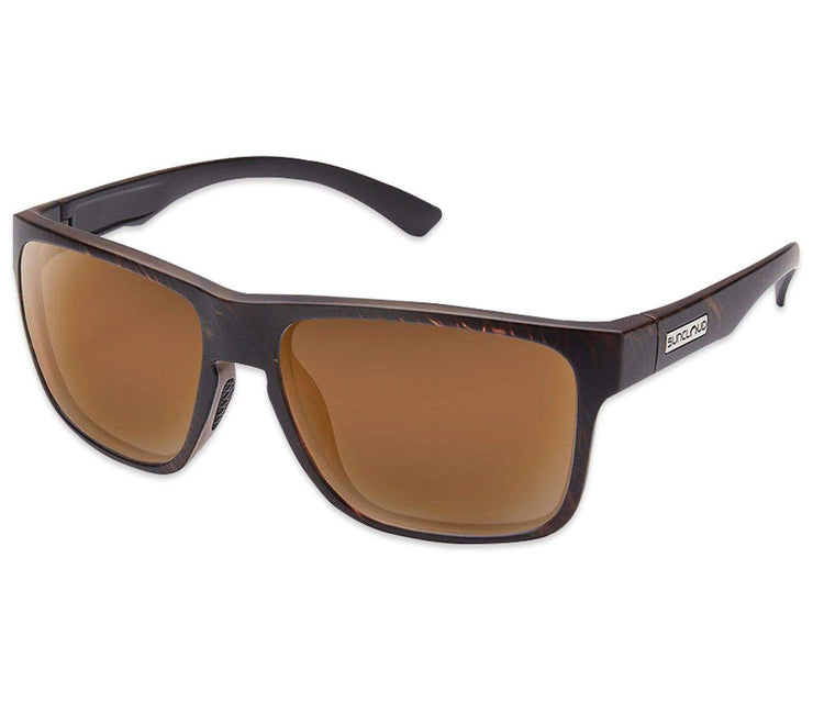Rambler Sunglasses - Blackened Tortoise, Polarized Headwear Suncloud Blackened Tortoise/Polar Brown - Medium Fit