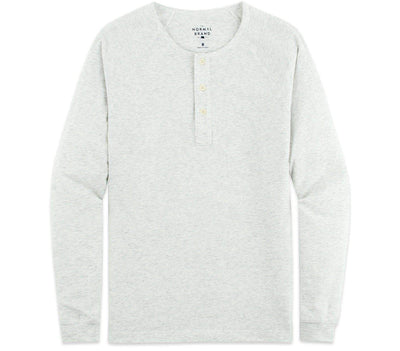 Active Puremeso Long Sleeve Henley - Stone Tops The Normal Brand Stone S