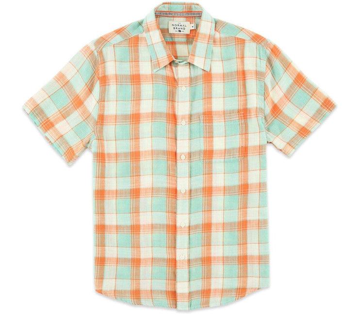 Skipper Short Sleeve Button Down - Blue Haze Tops The Normal Brand Blue Haze S