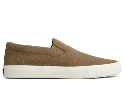 Striper PLUSHWAVE Slip-On Suede Sneaker Footwear Sperry Taupe Suede 9