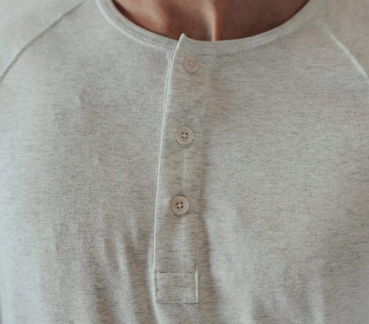 Active Puremeso Long Sleeve Henley - Stone Tops The Normal Brand