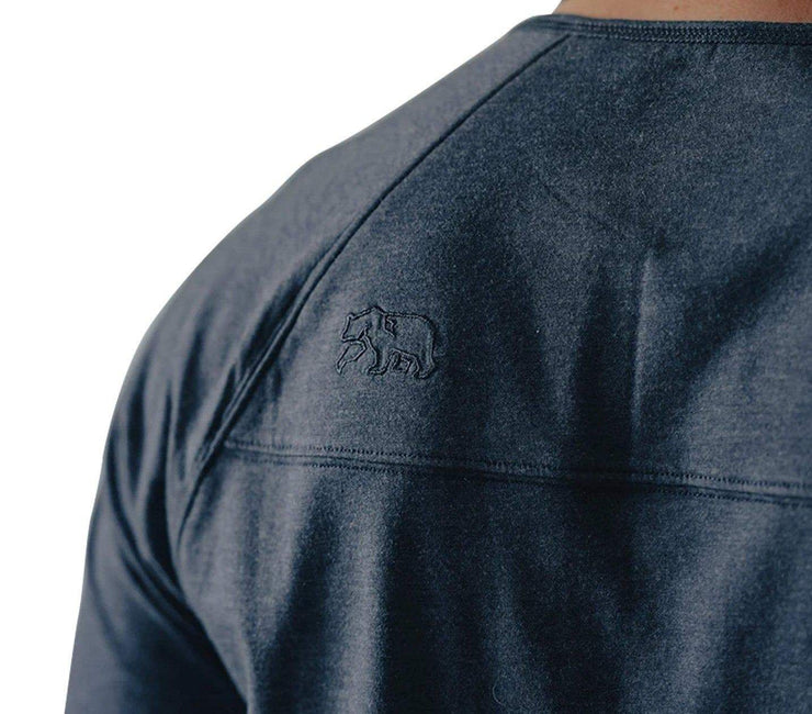 Active Puremeso Long Sleeve Henley - Navy Tops The Normal Brand
