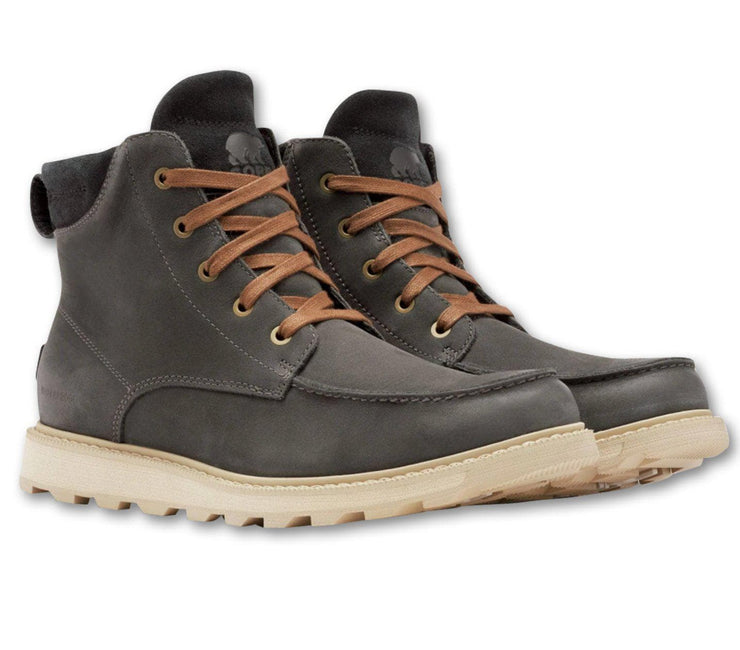 Madson Moc Toe Waterproof Boot - Coal Footwear Sorel