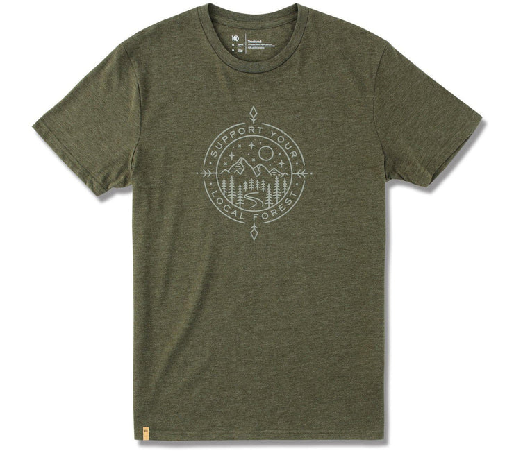 Support Short Sleeve T-Shirt - Olive Night Green Heather Tops Ten Tree Olive Night Green Heather S