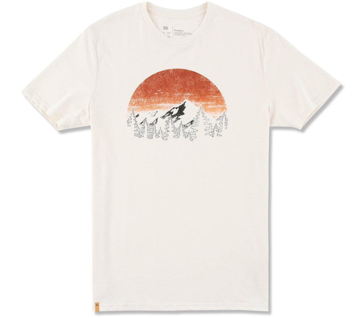 Vintage Sunset Classic T-Shirt - Elm White Heather Tops Ten Tree Elm White Heather S