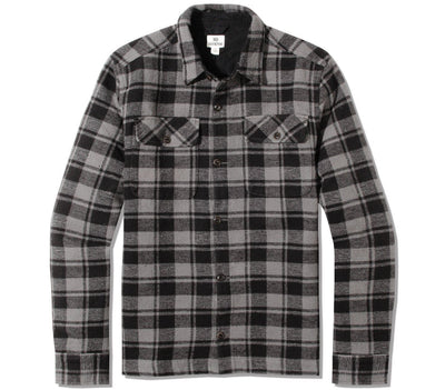 Heavy Weight Flannel Shirt Tops Ten Tree Meteorite Black S