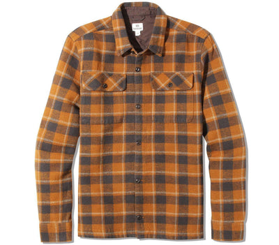 Heavy Weight Flannel Shirt Tops Ten Tree Rubber Brown S