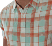 Skipper Short Sleeve Button Down - Blue Haze Tops The Normal Brand