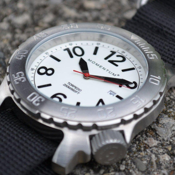 Torpedo Dive Watch [44MM] - Black Nato Band Accessories Momentum
