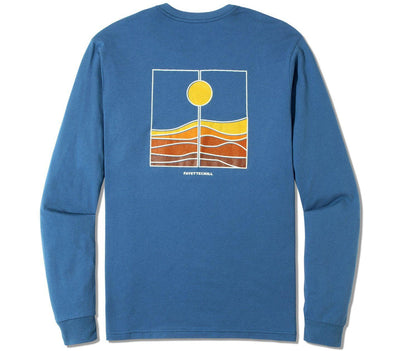 Harvest Long Sleeve Tee Tops Fayettechill Glass Blue S