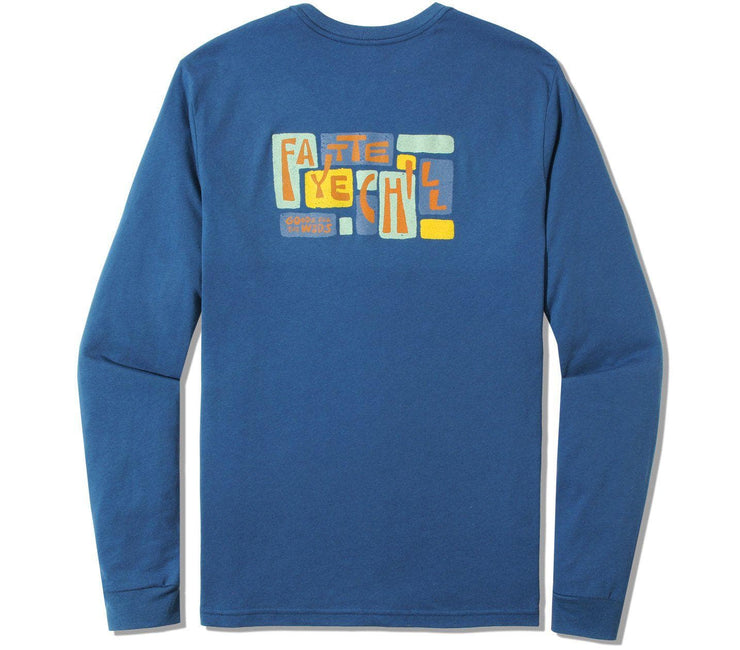 Delta Blues Long Sleeve Tee Tops Fayettechill Glass Blue S