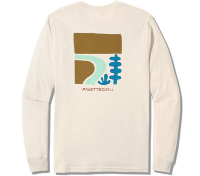Rio Bend Long Sleeve Tee Tops Fayettechill French Vanilla S