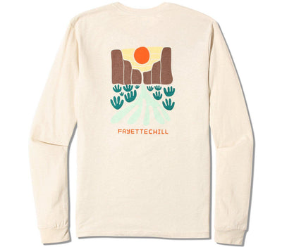 Santa Elena Long Sleeve Tee Tops Fayettechill French Vanilla S