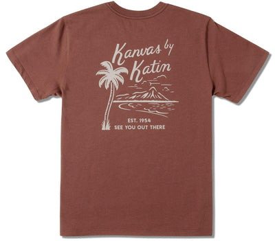 Vintage Beachside Graphic Tee - Dark Clay Tops Katin Dark Clay S