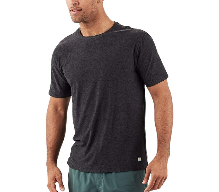 'Strato' Athletic Tech Tee Tops Vuori Heather Charcoal S