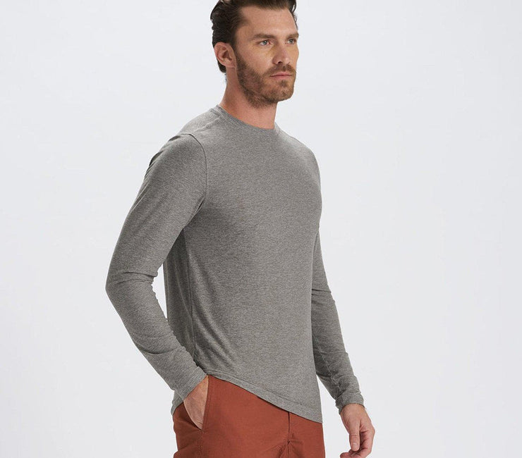 Strato Tech Long Sleeve Tee - Grey Tops Vuori