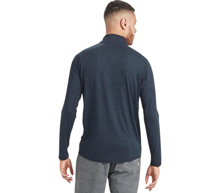Ease Performance 1/2 Zip - Ink Heather Tops Vuori