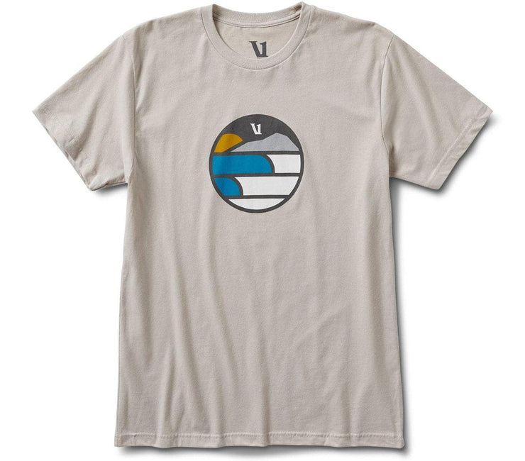 Waves Mountain Sun Tee Tops Vuori Light Grey M