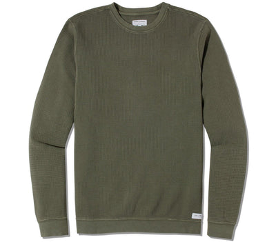 Preston Transeasonal Fleece Crew - Military Tops Banks Journal Olive Military S