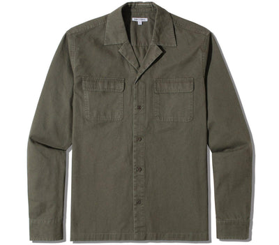 Undisputed Woven Shirt Tops Banks Journal Olive Military S